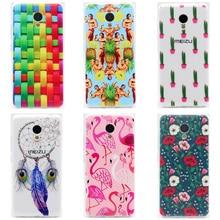 Soft case para meizu m3 mini m3s mini tampa transparente impressão desenho de silicone casos de telefone tpu para meizu m3mini m3smini 5 polegada