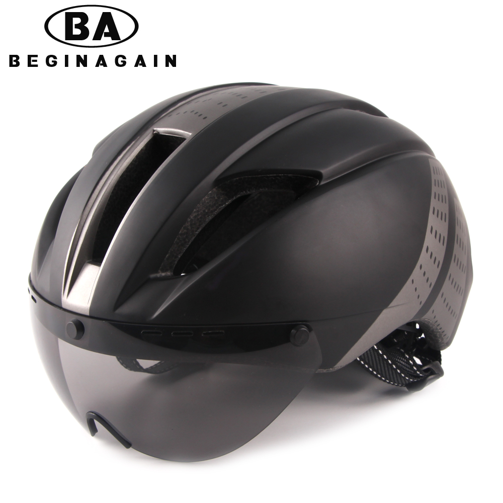 BEGINAGAIN Bike Helmet Men/Women Goggle Breathable In-mold Mountain Bicycle Helmet Road Ultralight Sport MTB Cycling Accessories цена