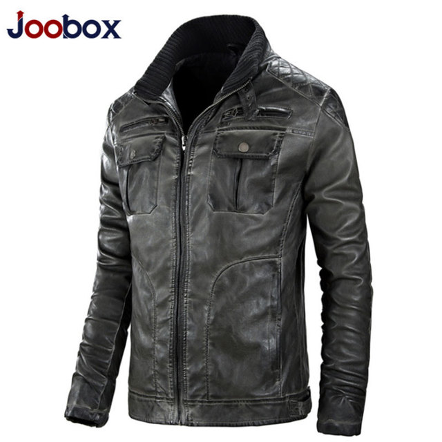 2016 Famous Brand Motorcycle Biker Black PU Casual Coats And Jackets Slim Short Stand Collar Jaqueta Couro Bomber Free Shipping