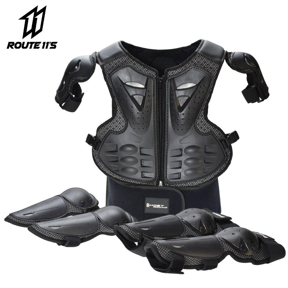 Motorcycle Jacket Children Riding Protection Armor Motorbike Motocross Equipment Racing Body Armor Ptotective Gears Combination