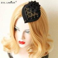 Công chúa Gothic Lolita phụ kiện tóc đen quý tộc Đảng mũ kẹp tóc gothic cung điện gió hành động vai trò ofing nếm FJ-112