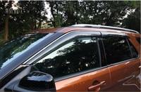 Para Ford Explorer Sport 2013 2014 2015 2016 2017 ABS Viseiras Da Janela Toldos de plástico Defletor Visor Chuva Sun Guard Ventilação cobrir