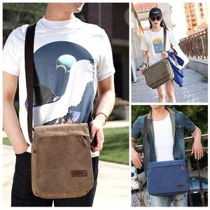Image 5 - Scione модная однотонная холщовая сумка мессенджер с пряжкой, Повседневная Портативная сумка на плечо, корейский тренд, простая упаковка для мужчин