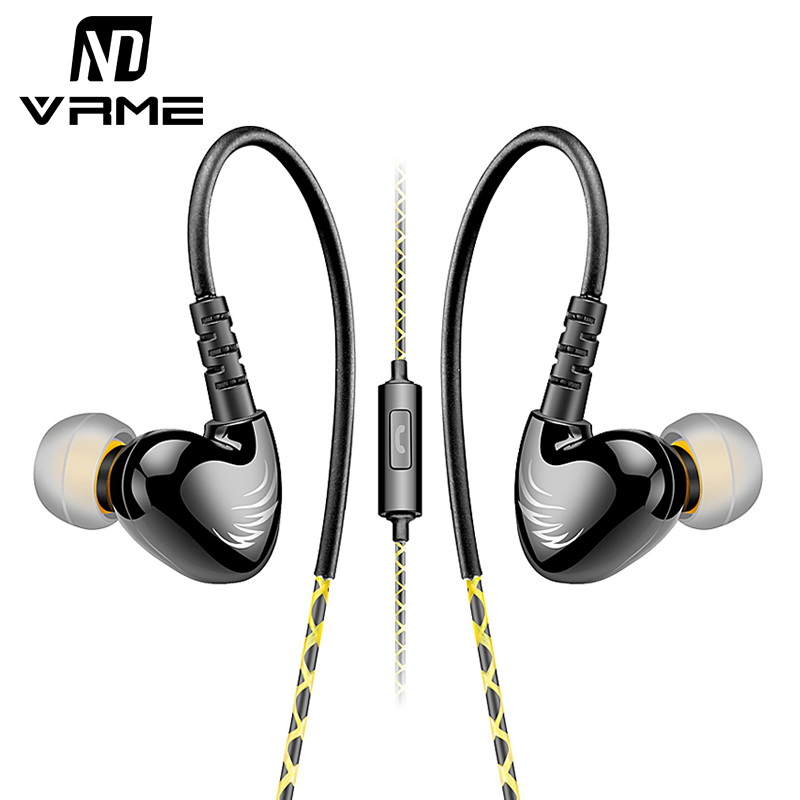 Vrme Earphone Sport Headphones Music Headset for iPhone 6 6s Earphones and Headphone with Microphone for Mobile Phone Handsfree kz headset storage box suitable for original headphones as gift to the customer
