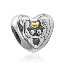 1Pcs Silver Bead Charm European with Hollow cherry Pendant Fit Pandora Bracelet ZAB203