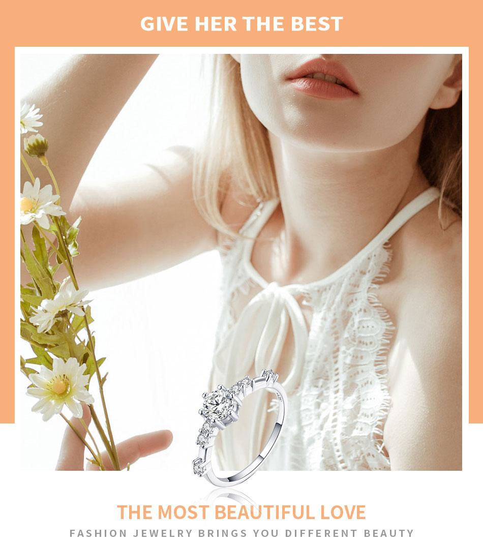 091dd7c389ddb HOMOD 2019 New Fashion Women Ring Finger Jewelry Rose Gold /Sliver ...