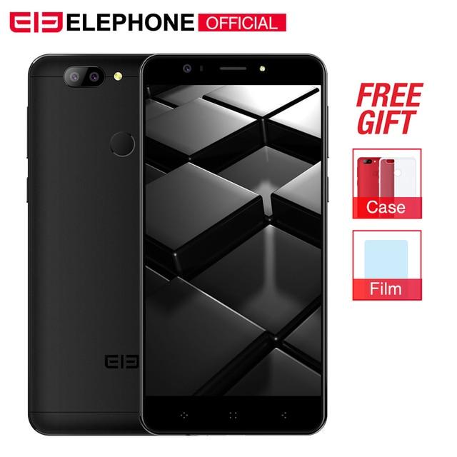 Cargadores de coche Elephone P8 3D teléfono celular de 5,5 pulgadas teléfono inteligente Android 7,0 MT6750T Octa Core 4 GB RAM 64 GB ROM 13MP 4G teléfono móvil