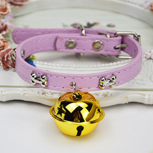 Easy Wear Cat Dog Collar With Big Bell Adjustable Buckle Puppy Pet Accessories Small Chihuahua