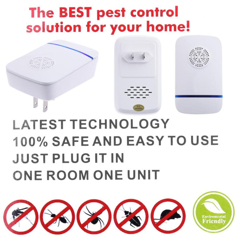 Electronic Ultrasonic Mosquito Repeller Killer Mouse Cockroach Trap Insect Rats Spiders Pest Control 22-55KHZ 110-240V
