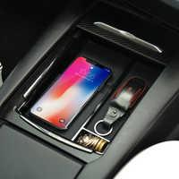 Chargeur sans fil pour modèle Tesla dans la voiture support de support de charge support pour iphone X XR XS Max Chargeur de voiture Smartphone