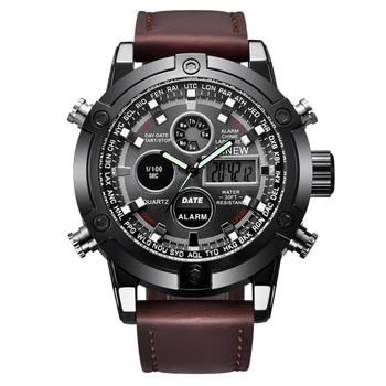 XINEW 2018 new watches men luxury brand Gift Men's Leather Band Sports Date Alloy Military Quartz Watch relogio masculino