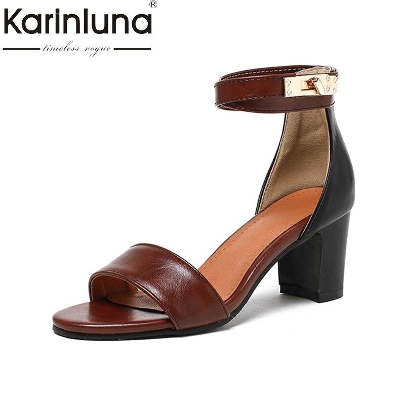KarinLuna 2018 brand large sizes 33-43 fashion women shoes woman sandals high heels ankle-strap woman party sandals female