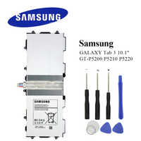 Original Tablet Battery T4500E For Samsung Galaxy Tab 3 10.1 GT-P5210 P5200 P5220 P5213 6800mAh Real Capacity Akku