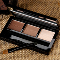 3 Colores de Cejas Enhancer Polvo/Paleta de Sombra de ojos Profesional Colores Ceja Impermeable de Larga duración Natural de Maquillaje de Alta Calidad
