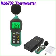 1 шт. MASTECH MS6702 Цифровой ШУМОМЕР Шума Метр дб Decible Метр Тестер Измеритель Температуры И Влажности Термометр