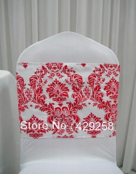 Cool Free Shipping 300Pcs White And Red Flocking Taffeta Chair Download Free Architecture Designs Rallybritishbridgeorg