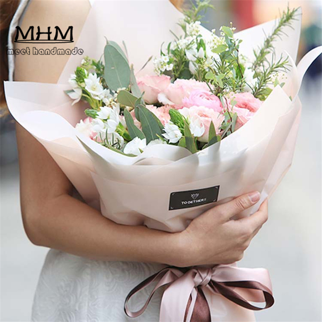 10pc/L Hot Sale Fashion Mist Bouquets Flowers Packaging Materials ...