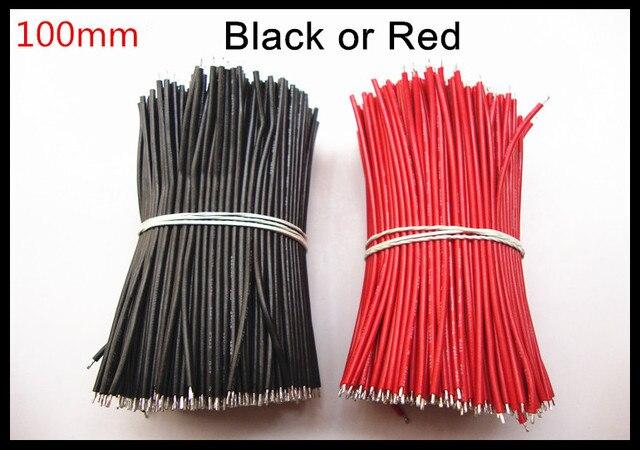 1000 teile/los länge: 100mm UL1007 28AWG stecker draht kabel Rot ...