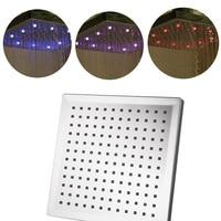 8 Inches LED Changing Color Rain Top Shower Head Durable Bathroom Rainfall Showerhead M25