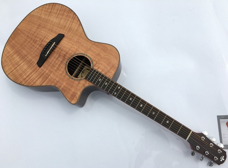high grade flame maple Cutaway electric acoustic guitar