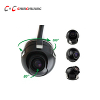 360 Degree Mini Wide Angle Waterproof HD CCD Normal Image Car Front/Rear View Camera Backup HD night version Parking Assistance