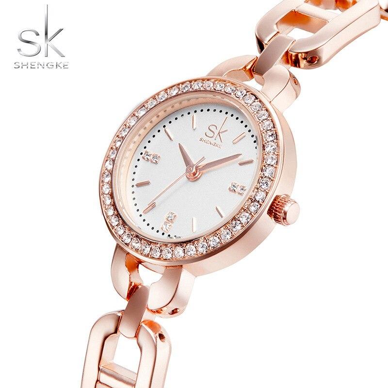 27b72d63647 ... Relógio de Pulso Jóias das Senhoras sk Novas Mulheres de Moda Diamante  Pulseira Ouro Marca Relógio Quartzo Reloj Mujer 2017 ...