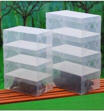 Homens domésticos transparente claro sapatos caixa de sapatos de armazenamento organizador caso
