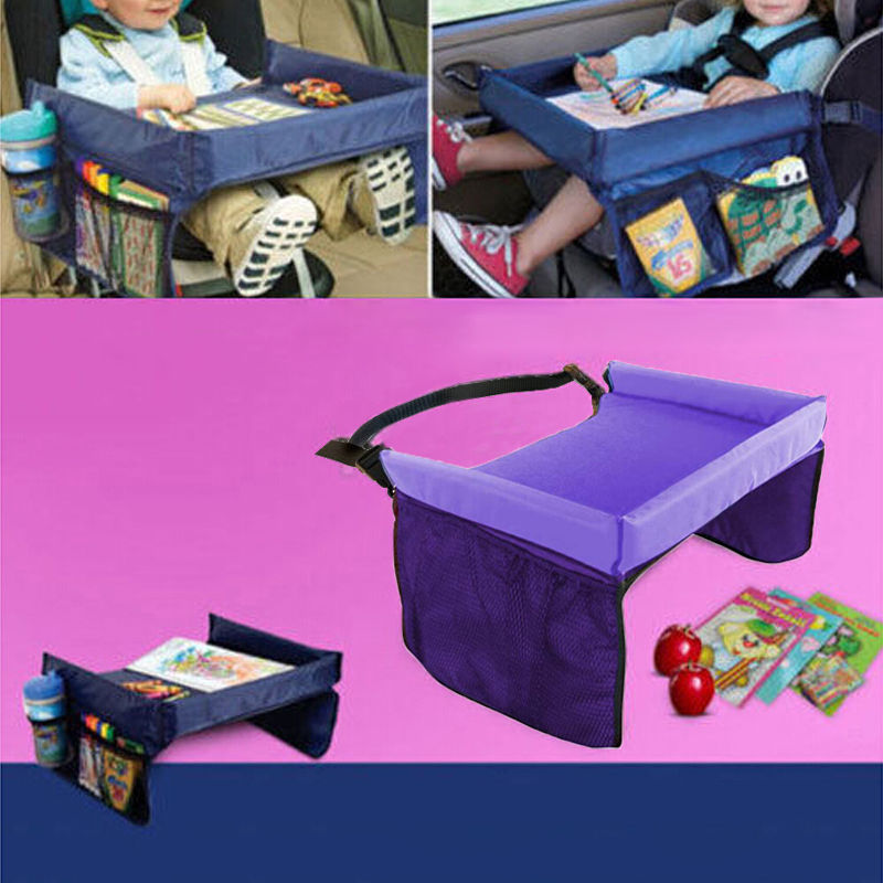 hot waterproof storage toy table children travel toy tray table baby car seat stroller Pallets Drawing Board Pink Blue Purple