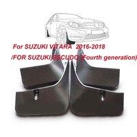 Car Front & Rear Mudflaps Splash Guards For Suzuki Vitara / Edcudo 2016 2017 2018 Vehicle Mudguards for Fender Protector