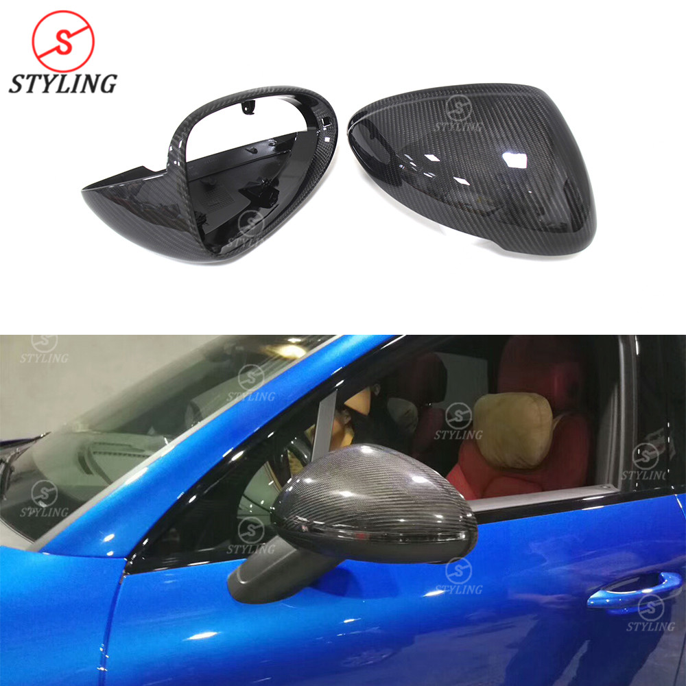 For Porsche Macan side Mirror Cover 2014 2015 for Macan Carbon Fiber Rear View caps Mirror