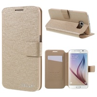 HOLILA For Galaxy S6 Case Silk Texture Leather Stand Case Cover For Samsung Galaxy S6 G920
