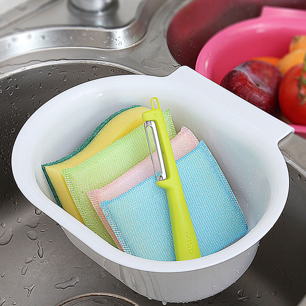 Kitchen Sink Drain Basket Hanging Water Filter Colorful Fruit And ...
