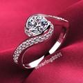 Victoria Wieck Noble Lady 925 Sterling Silver Branco Diamonique Anel De Casamento Cruz Sz 4-10 Presente Frete grátis
