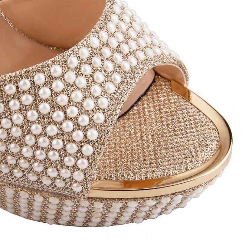 Nuevo 2018 Plataforma de lujo Tacones altos Mujer Zapatillas Cadena - Zapatos de mujer - foto 2