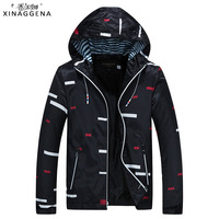 2018 New Men S Jackets Spring Autumn Thin Plaid Fashion Bomber Jack Male Casual Slim Stand