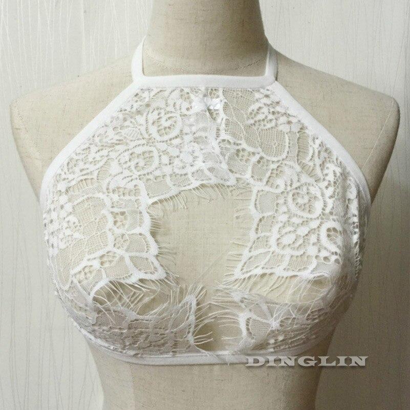 HTB1OLpeLXXXXXbiXXXXq6xXFXXX1 - FREE SHIPPING Women Lace Blouses Backless Floral Halter Open Bust Sexy Crop Top JKP303