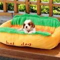 Хот-Дог Теплой Мягкой Dog House Pet Спящая Большой Маленький Собак Pet Диван Кошка Кровать Для Собак Бесплатная Доставка