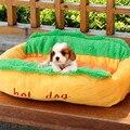 Hot Dog Quente Casa de Cachorro Macio Animal de Estimação Dormir Grandes Cães de Pequeno Porte Pet Sofá Cama de Gato Para Cães Frete Grátis