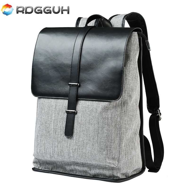 RDGGUH Fashion Men Backpack 14 Inch Luxury Brand Canvas School Bags For College Leisure Travel Laptop Backpacks Business Bag new fashion vintage backpack canvas backpack teens leisure travel school bags laptop computers unisex backpacks men backpack