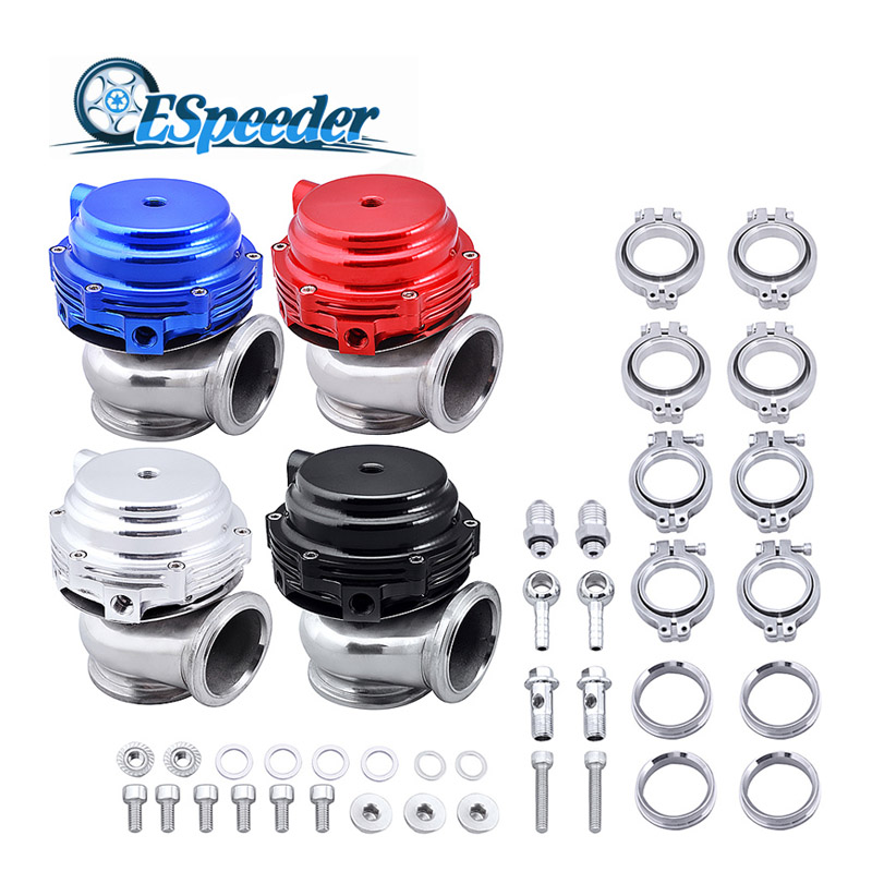 купить ESPEEDER 44mm Wastegate External Turbo Red/Blue/Black With Flange & Clamps MV-R Water Cooled Waste Gate For Turbo Manifold по цене 3229.88 рублей