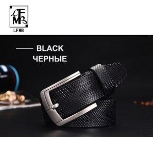 Image 2 - [LFMB] Gürtel Männer Echtes Leder Designer Gürtel Männer Hohe Qualität Luxus Männlichen Strap Cinturones Hombre Kostenloser Versand