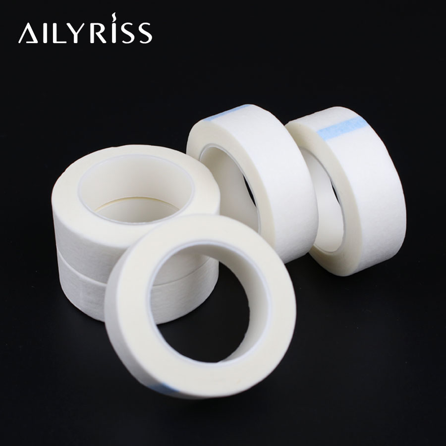 5Rolls Isolation Eyelash Extension Under Eye Pad Tape PE Adhesive Grafting Tape Micropore Tape For False Eyelash Extensions Tool