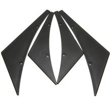 4pcs/set Black Car Canards Front Bumper Lip Splitter Diffuser Fins Body Valence Chin Wing Widebody Tunning Canard Spoiler цена и фото
