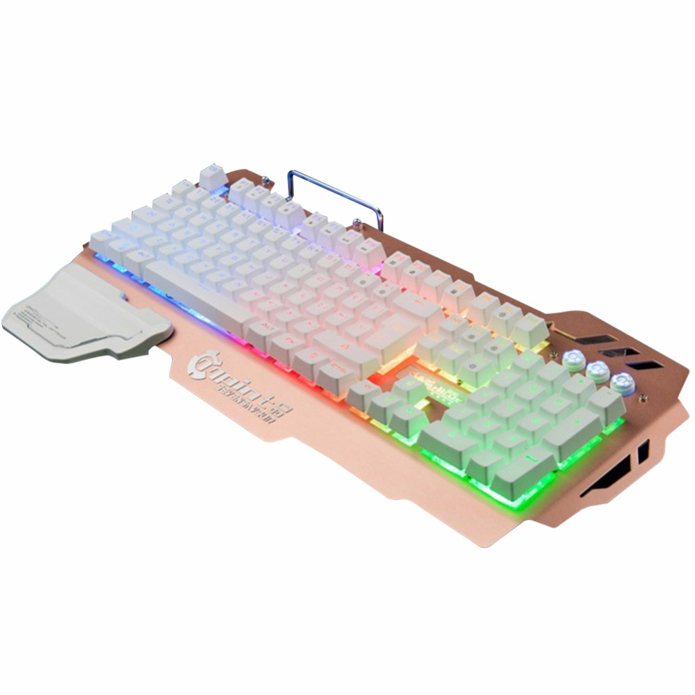 Colorful Back light Gaming Keyboard Mechanical Feeling High Quality 104 Keys Waterproof ABS Material Keyboard for PC Laptop new professional gaming mechanical keyboard 104 keys colorful backlit blue switch game keyboard for pc laptop