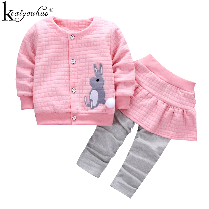 Baby Girl Clothes Winter Cotton Girls Sport Suits Children Clothing Sets High Qulity Long Sleeve Kids Outfits Suits 1 2 3 Years girls boutique outfits children clothing set winter 2018 fashion little girls clothing sets baby girl suits warm kids clothes
