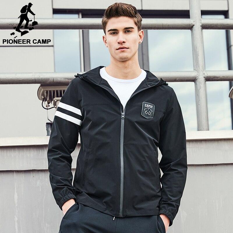 Pioneer camp ajk703012 marca jaqueta casaco de moletom com capuz homens jaqueta de qualidade superior dos homens novos chegada de moda casual casaco masculino ajk703012
