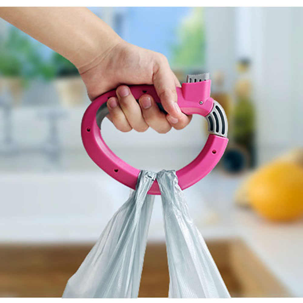 Bag Grips One Trip Grip Shopping Grocery Bag Kitchen Tool Gift Baskets Holder Handle Carrier Lock Labor Saving Tool KC1120
