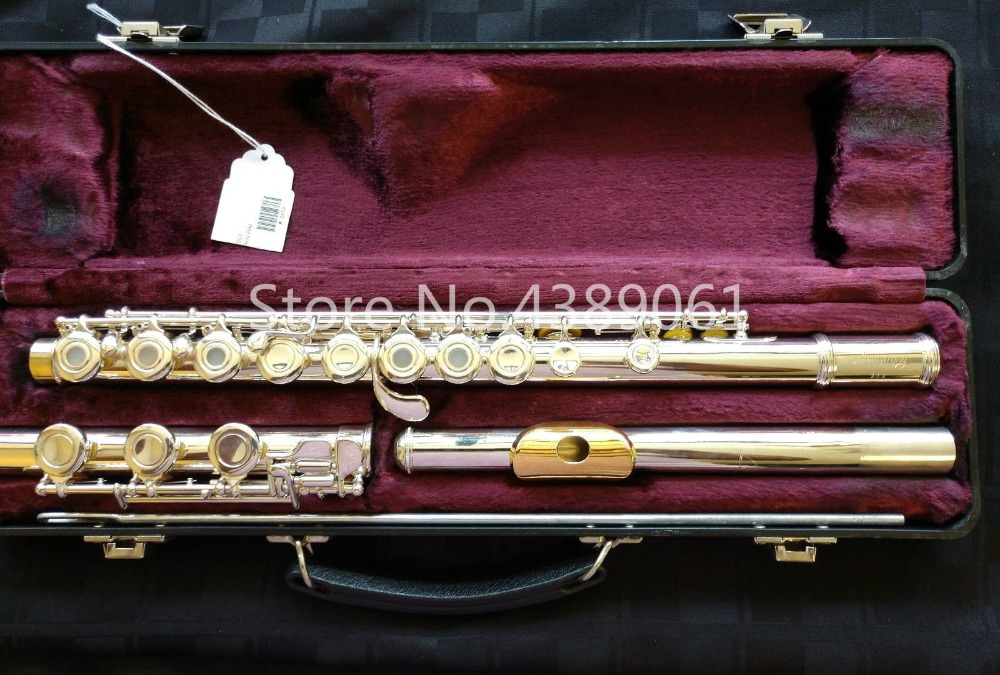 Новый ARMSTRONG 303 C мелодия Мельхиор Посеребренная флейта поверхности позолоченные губ E ключ 17 Отверстия открытым флейта музыкальный инструме