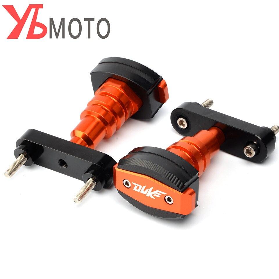 CNC accessoires moteur protecteur côtés Pour KTM DUKE 125 200 390 Moto Gauche et Droite Cadre Curseur Crash Pads Tomber Protection