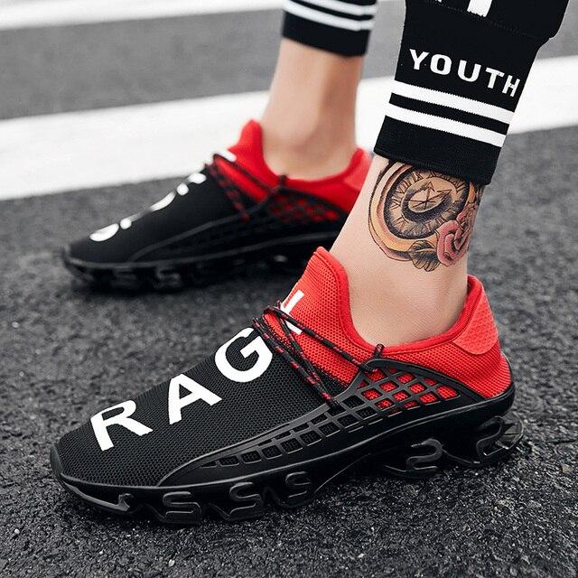 2019 Sneakers Mannen Schoenen Casual Blade Sneakers Demping Outdoor Sportschoenen Licht Trainers Lente Chaussures Pour Hommes Grote Sz
